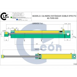 Cilindro D/E 40-70/80-500