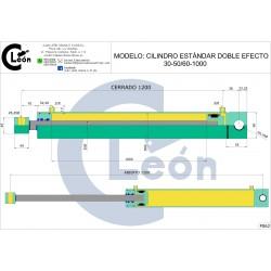 Cilindro D/E 30-50/60-1000