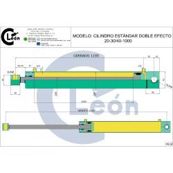 Cilindro D/E 20-30/40-1000