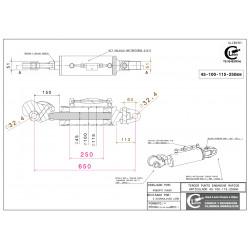45-100-115-250mm Enganche rápido - articulado