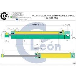 Cilindro D/E 25-40/50-1100