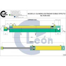 Cilindro D/E 40-70/80-450