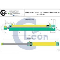 Cilindro D/E 25-40/50-300