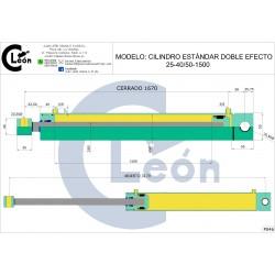 Cilindro D/E 25-40/50-1500